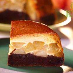 Tort de mere cu cremă de zahăr ars si cacao